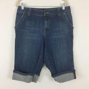 ✅ 4/$20 Ana Jeans Shorts Sz 10 Bermuda Blue Denim